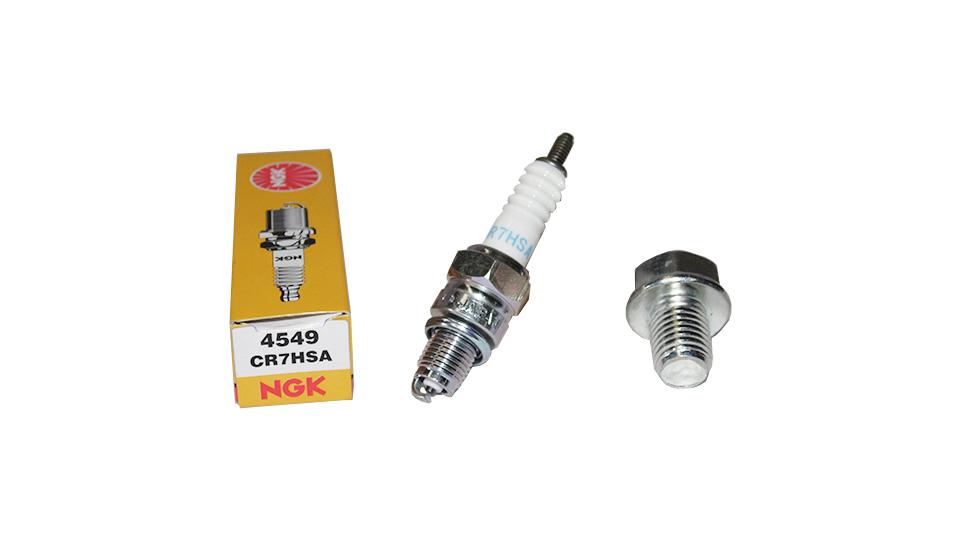 Service Kit - NGK CR7HSA Spark Plug and Magnetic Sump Plug Bolt